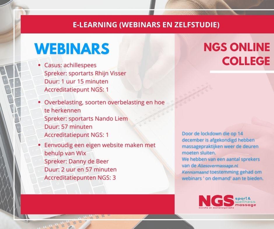 NGS webinars 18 december